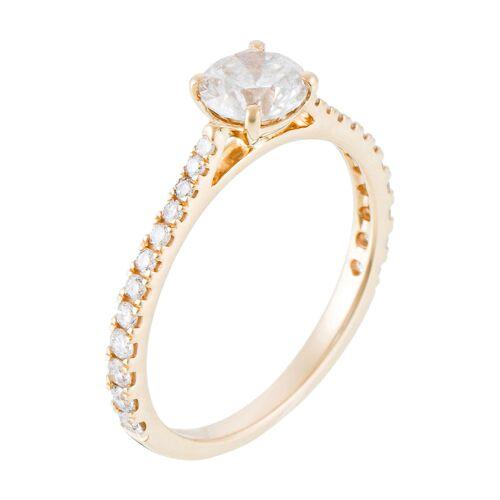 Diamanta Ring Solitaire Royal, 750 Gelbgold, Diamant