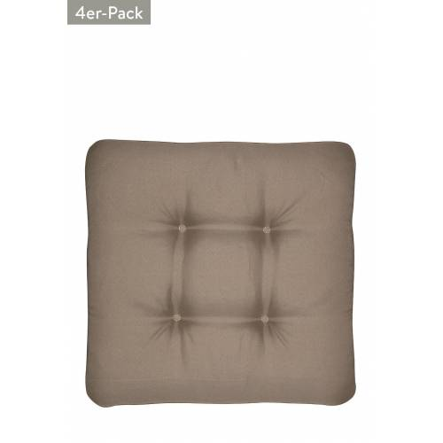 Doppler Sitzkissen, 4er-Pack, B45 x L45 cm