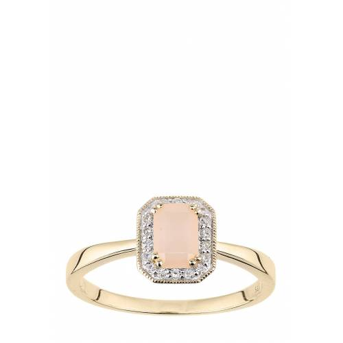 Rinani Ring, 375 Gelbgold, Diamant, Opal