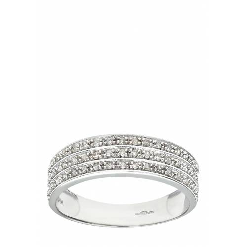 Rinani Ring, 375 Weißgold, Diamant silber