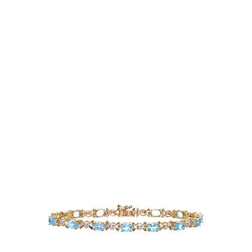 Diamant PUR Armband, 375 Gelbgold, Diamant/Topas