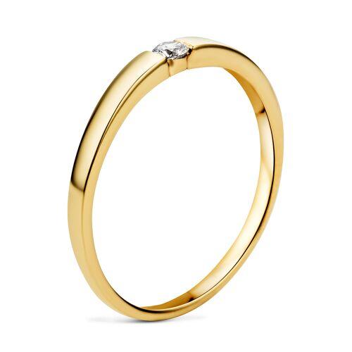 Diamant PUR Ring, 333 Gelbgold, Diamant