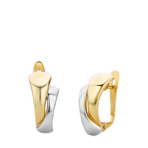 Diamant PUR Creolen, 585 Gelb-/Weißgold