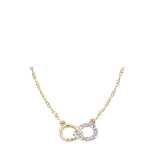 Diamant PUR Halskette, 375 Gelbgold, Diamant