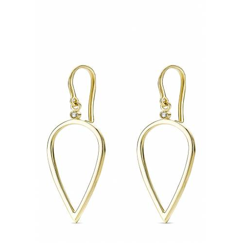 Diamant PUR Ohrhänger, 375 Gelbgold, Diamant