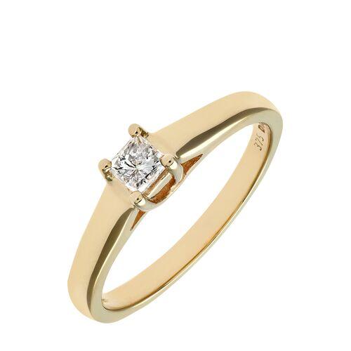 Diamant PUR Ring, 375 Gelbgold, Diamant