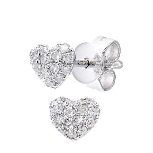 Diamant PUR Ohrstecker, 375 Weißgold, Diamant silber