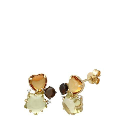 Diamant Exquis Ohrstecker, 750 Gelbgold, Diamant