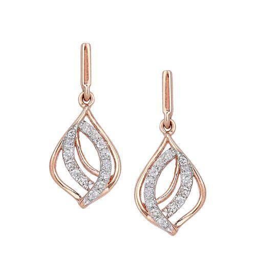Diamant Exquis Ohrstecker, 375 Roségold, Diamant