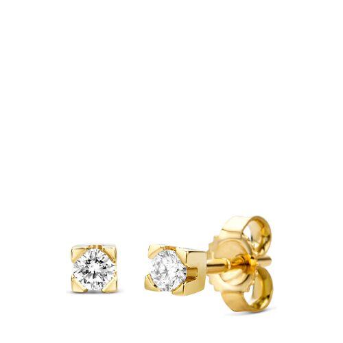 Diamant Exquis Ohrstecker, 585 Gelbgold, Diamant