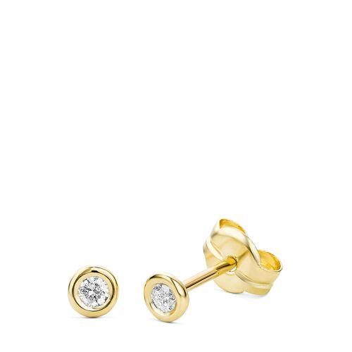 Diamant Exquis Ohrstecker, 375 Gelbgold, Diamant