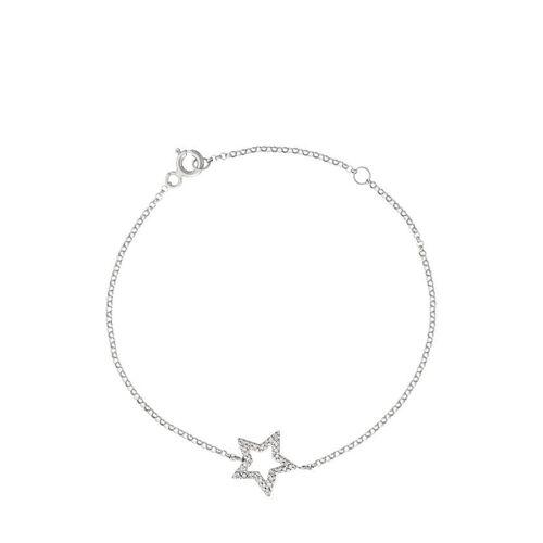 Diamanta Armband, 375 Weißgold, Diamant silber