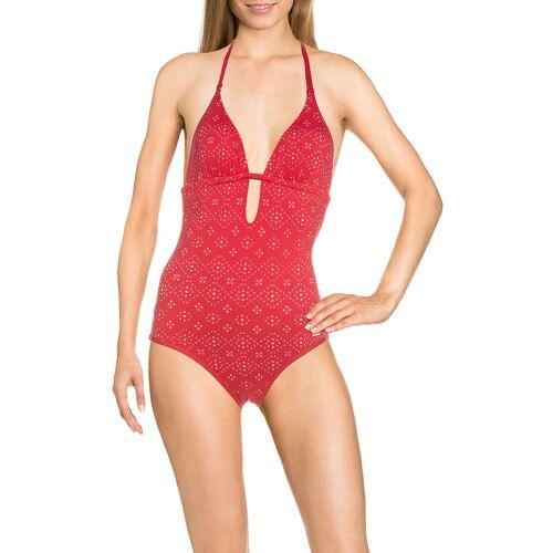 Sunseeker Badeanzug Femme, wattiert, rot