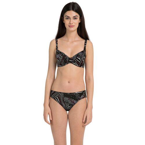 Naturana Bikini, schwarz/weiß/bordeaux