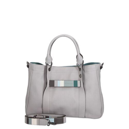 Longchamp Shopper Longchamp 3D, Leder, B30 x H22 x T9 cm grau