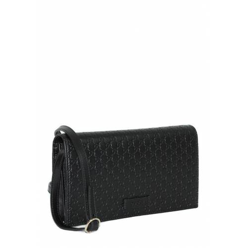 Gucci Umhängetasche, Leder, B20 x H11 x T4 cm schwarz