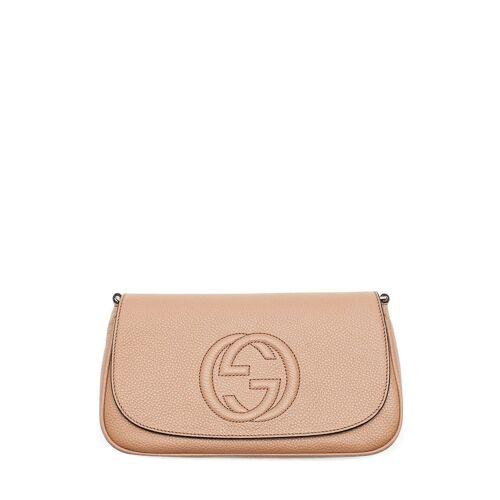 Gucci Umhängetasche, Leder, B27 x H16 x T5,5 cm beige