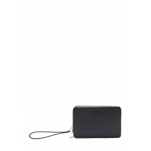 Lacoste Brieftasche, Leder, B25 x H16 x T5 cm schwarz