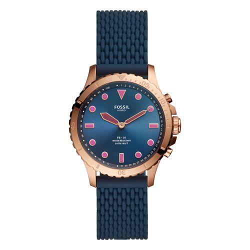 Fossil Smartwatch, Silikonarmband blau