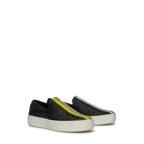 Calvin Klein Slip-Ons Chantell, schwarz/gelb bunt