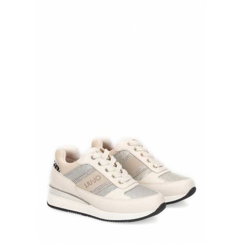 LIU JO Keil-Sneaker Connie 151, Absatz 4 cm weiß