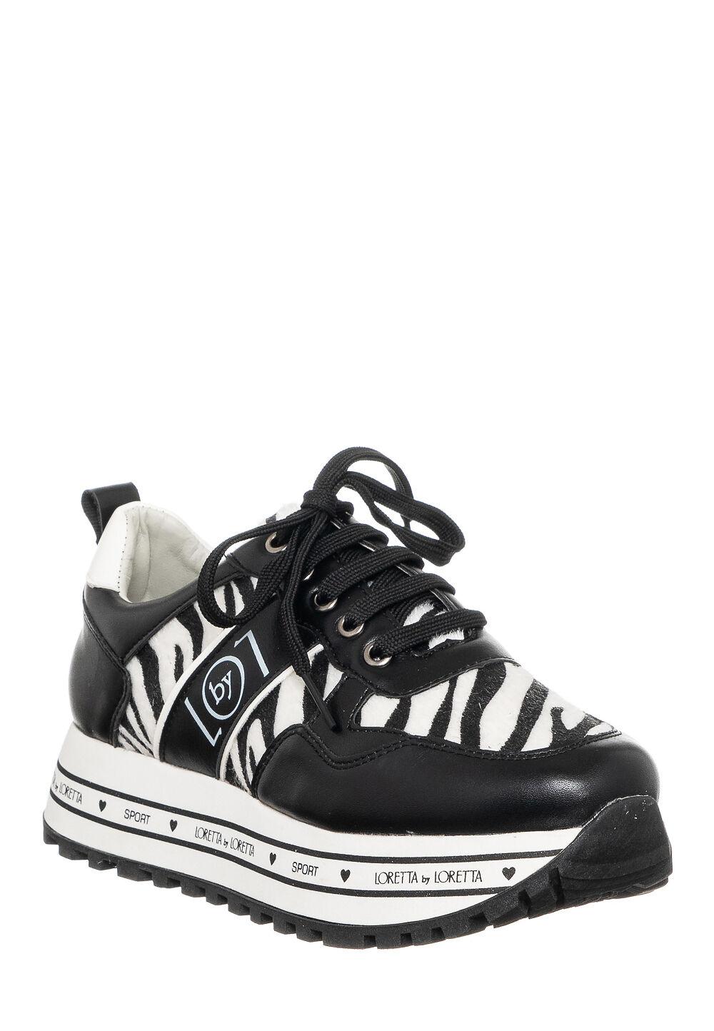 Loretta BY Loretta Plateau-Sneaker, 4 cm schwarz
