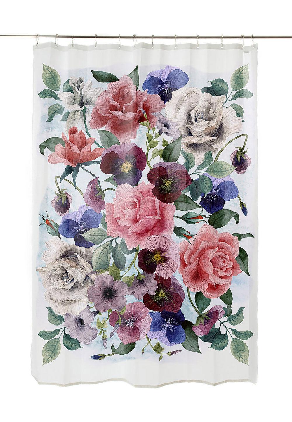 Really Nice Things Duschvorhang Flowers, L200 x B180 cm