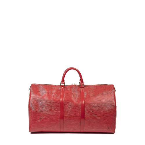 Louis Vuitton Vintage-Reisetasche Keepall 55 rot