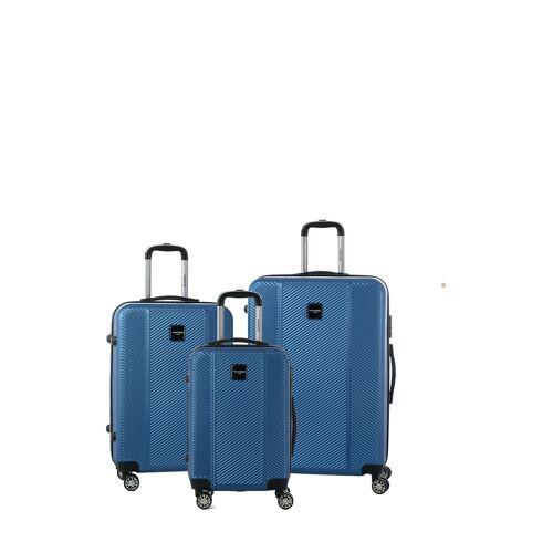 Murano Hartschalen-Trolley-Set, 3-tlg. blau