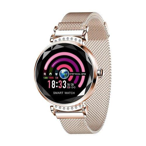 Smart Case Smartwatch, Bluetooth, Milanaise-Armband gold