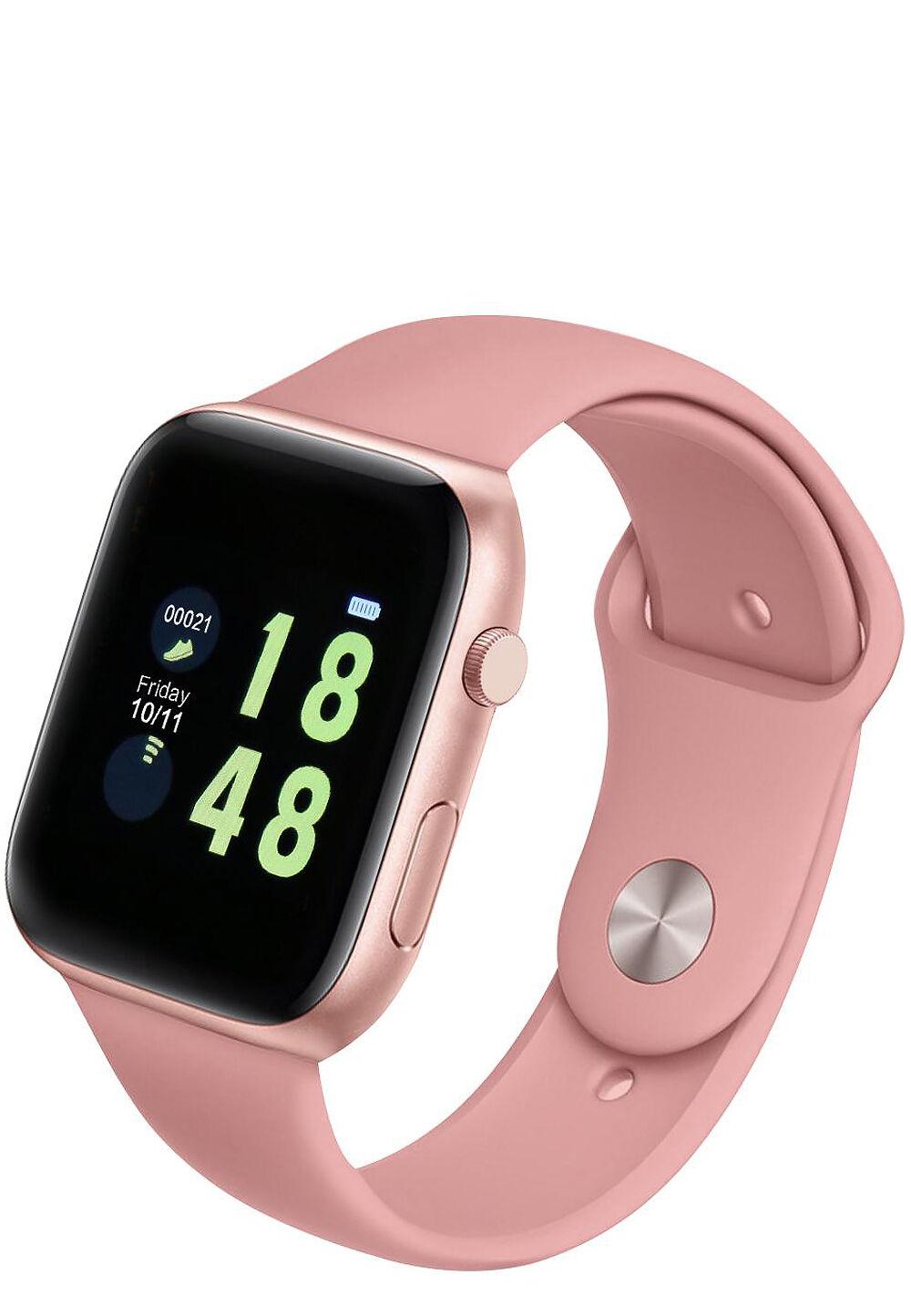 Elitaccess Smartwatch, Kunststoffarmband rosa