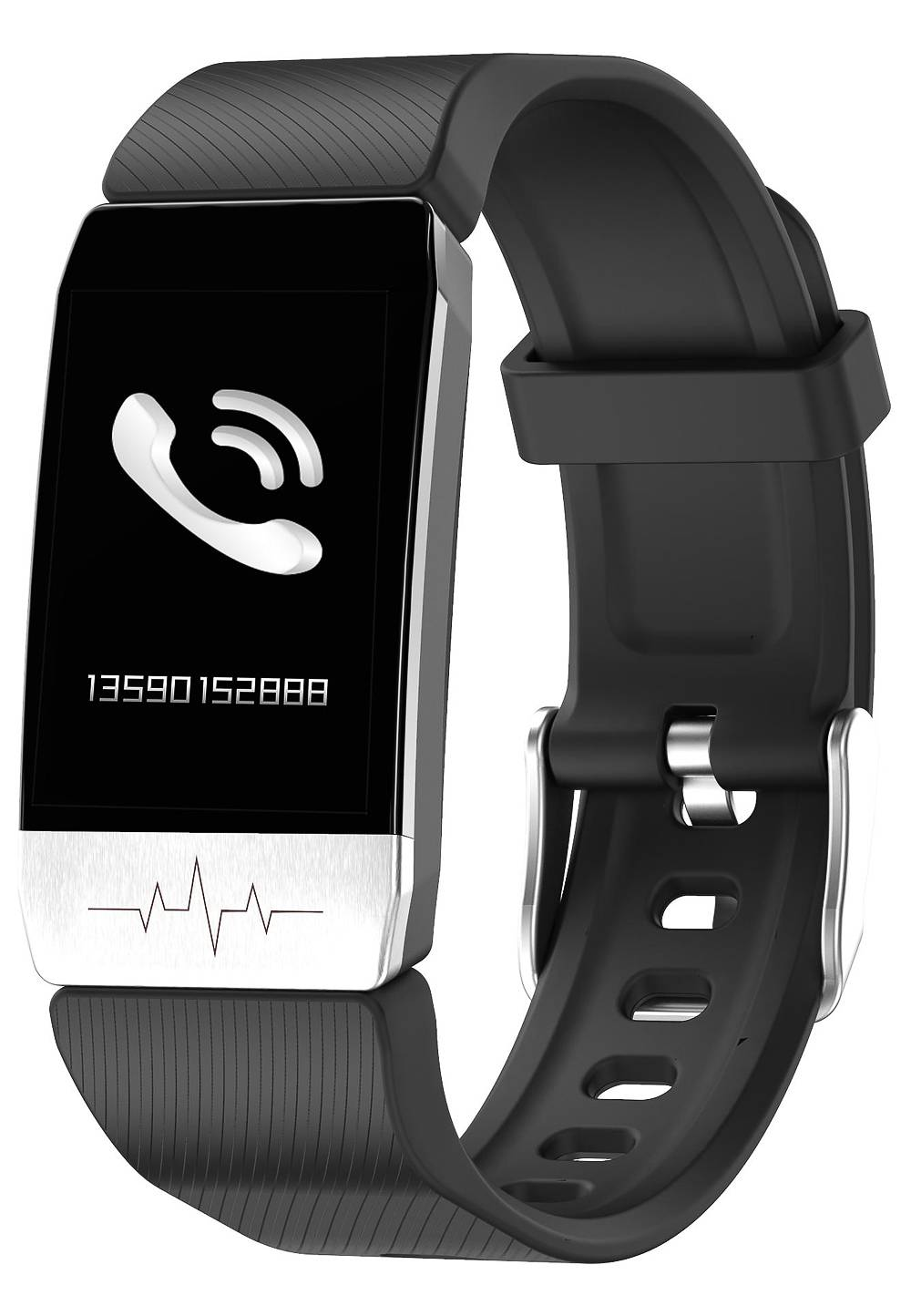 Elitaccess Smartwatch, Kunststoffarmband schwarz