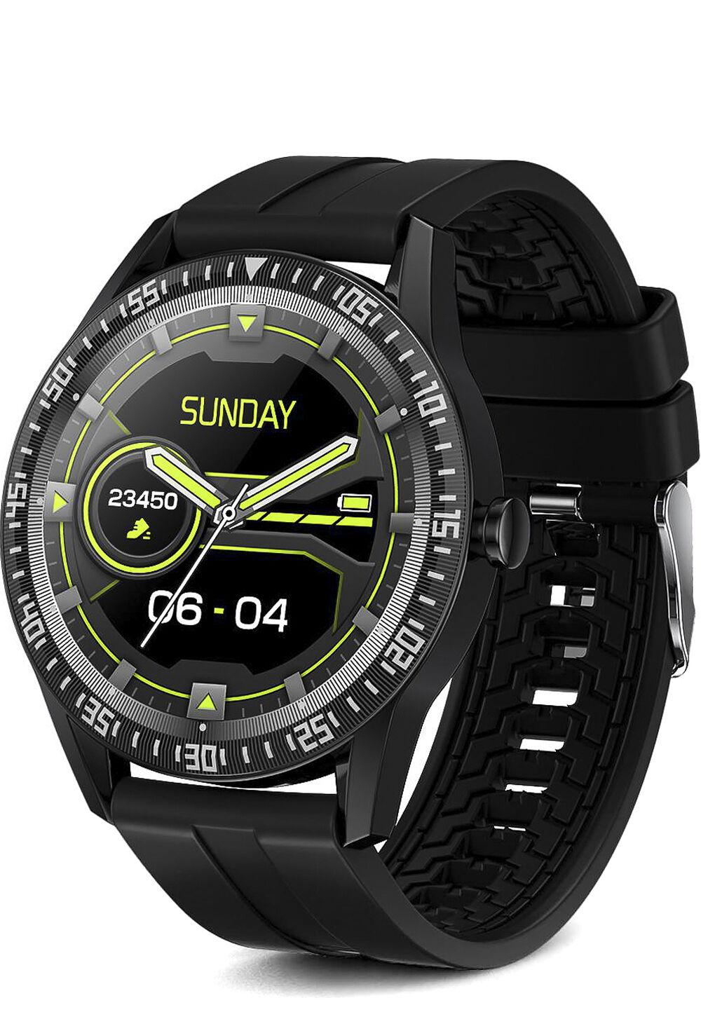 Platyne Smartwatch WAC 143, Bluetooth, Kunststoffarmband schwarz