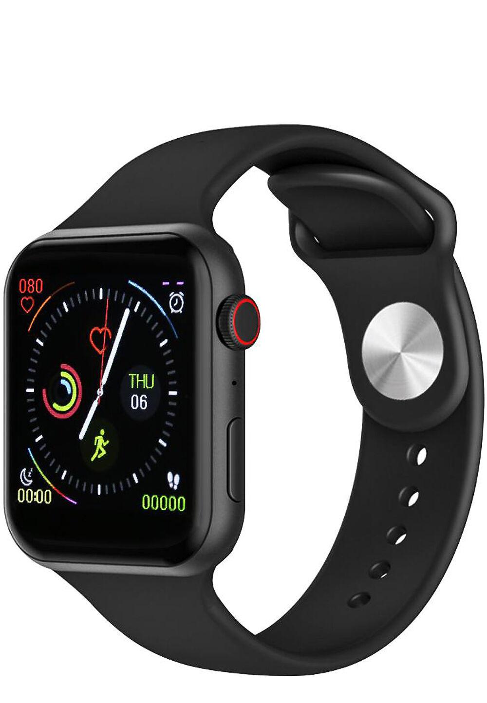 Platyne Multisport-Smartwatch, Silikonarmband schwarz