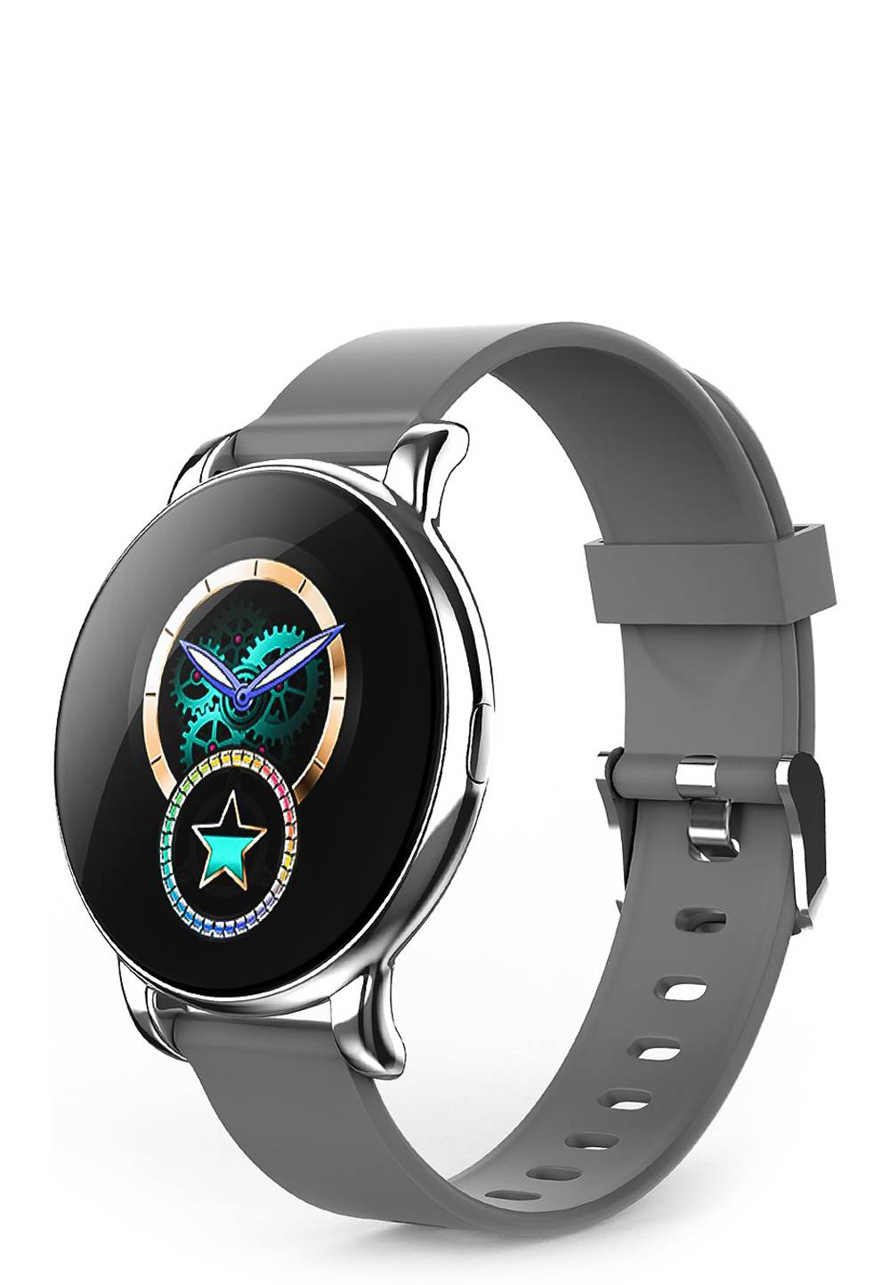Elitaccess Smartwatch, Kunststoffarmband grau