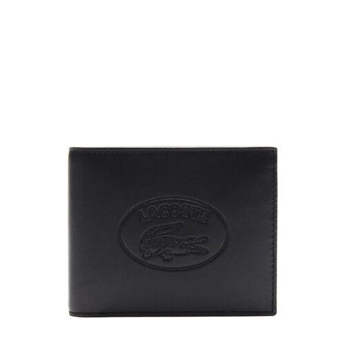 Lacoste Portemonnaie, Leder, B12 x H9 x T2 cm schwarz
