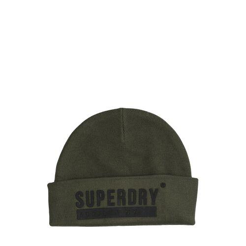 Superdry Beanie, L19,5 cm grün