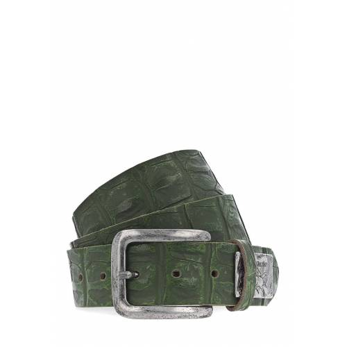 Mustang Gürtel, Leder, B4 cm grün