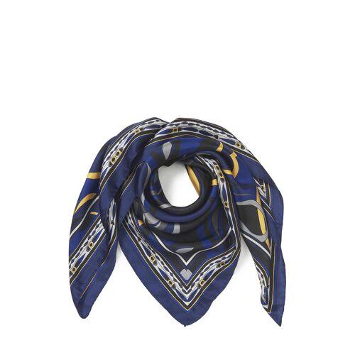 Basler Tuch, Seide, B90 x L90 cm blau