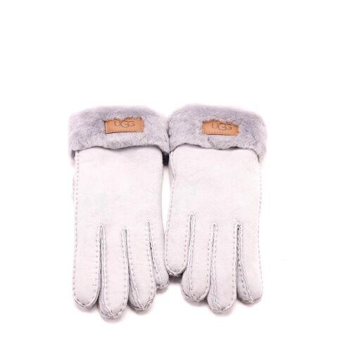UGG Handschuhe Turn Cuff, Leder/Lammfell weiß