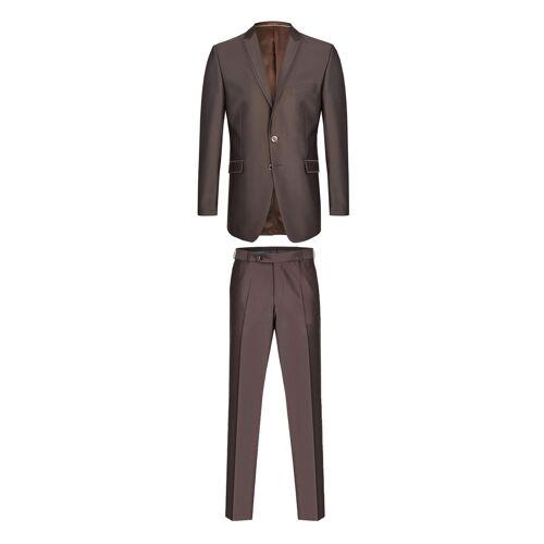Wilvorst Anzug Slim Line, Slim Fit braun