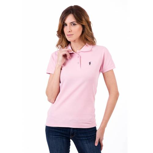 Polo Club Polo-Shirt, taillierter Schnitt rosa