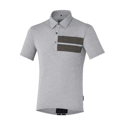 Shimano Polo-Shirt Transit grau
