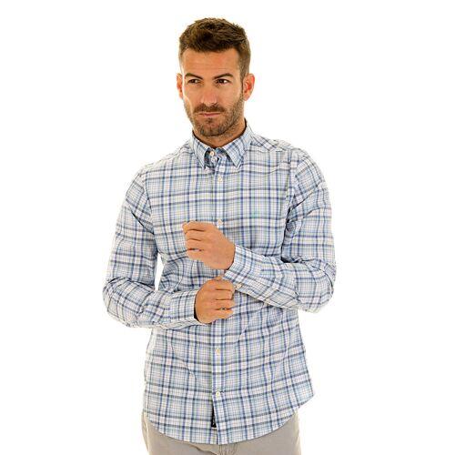 Gant Hemd, Langarm, Kentkragen, Slim Fit blau
