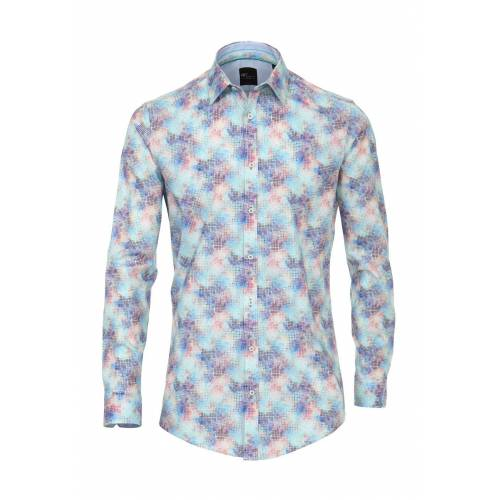 Venti Hemd, Kentkragen, Body Fit blau