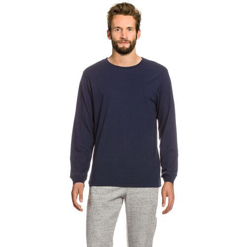 Adidas Pullover, Rundhals, gerader Schnitt blau