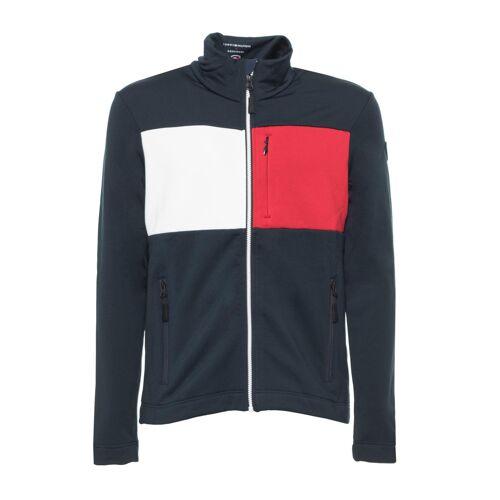 Tommy Hilfiger Trainingsjacke, Stehkragen, Regular Fit blau