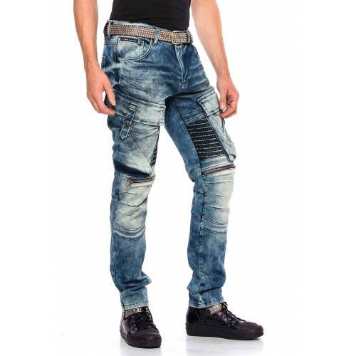 Cipo & Baxx Stretch-Jeans, Slim Fit blau