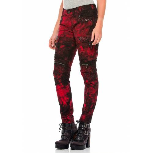 Cipo & Baxx Stretch-Jeans, Slim Fit rot