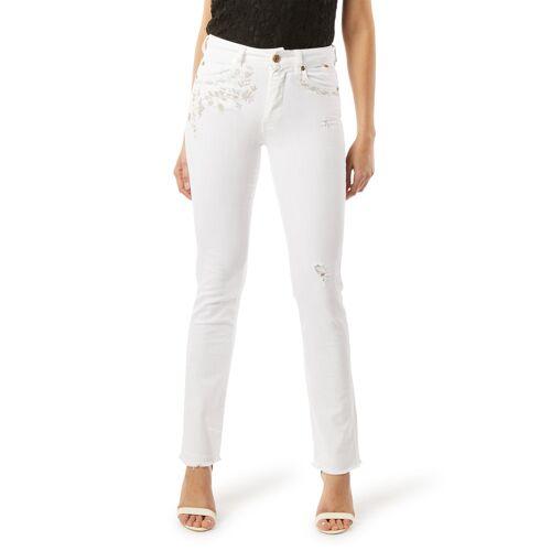 Blugirl Folies Stretch-Jeans, schmaler Schnitt weiß